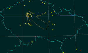 Mapa spojení 144 MHz
